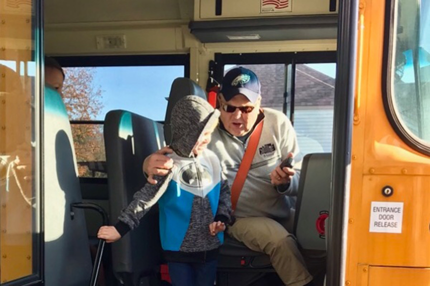 Community sends beloved bus driver to the Super Bowl