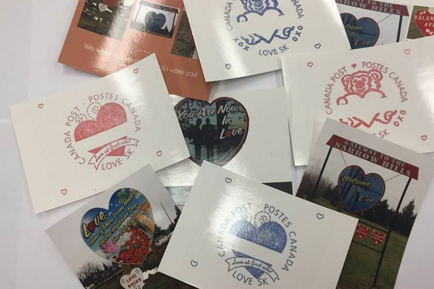 Sask. village spreading the love one stamp at a time