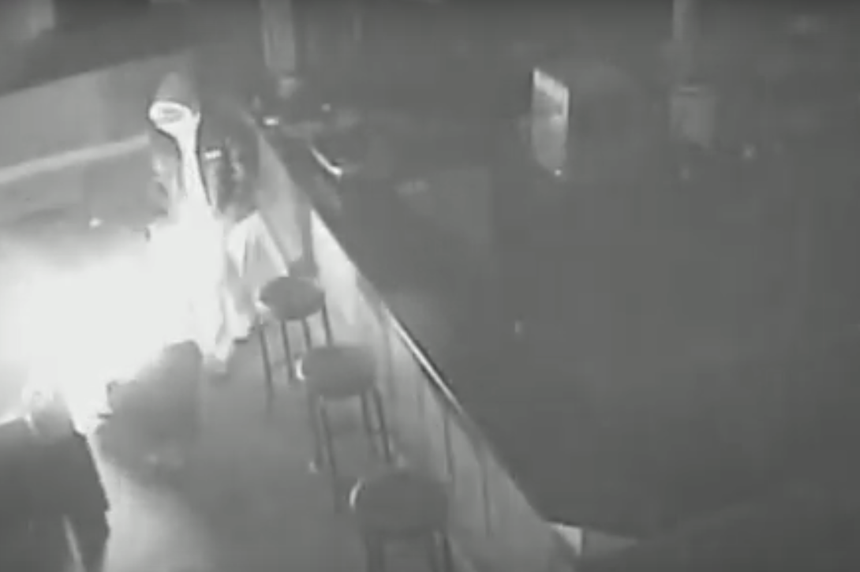 Footage shows suspect setting fire at Saskatoon nightclub