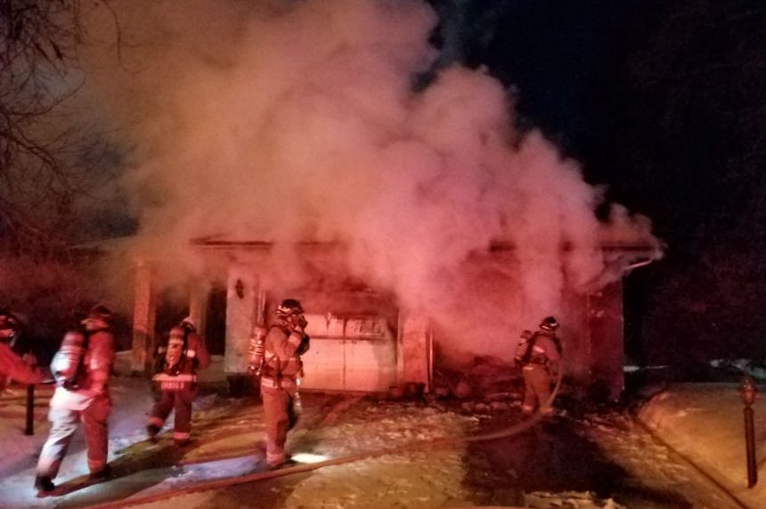 Garage and vehicles damaged in Silverwood Heights blaze