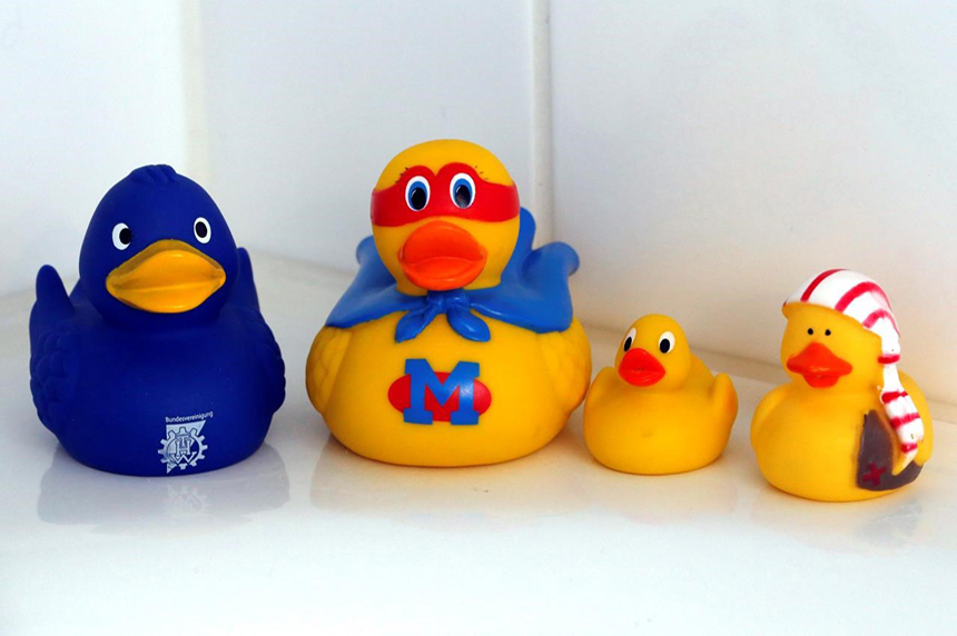 Yucky ducky? Study reveals bath-time friends' dirty secret