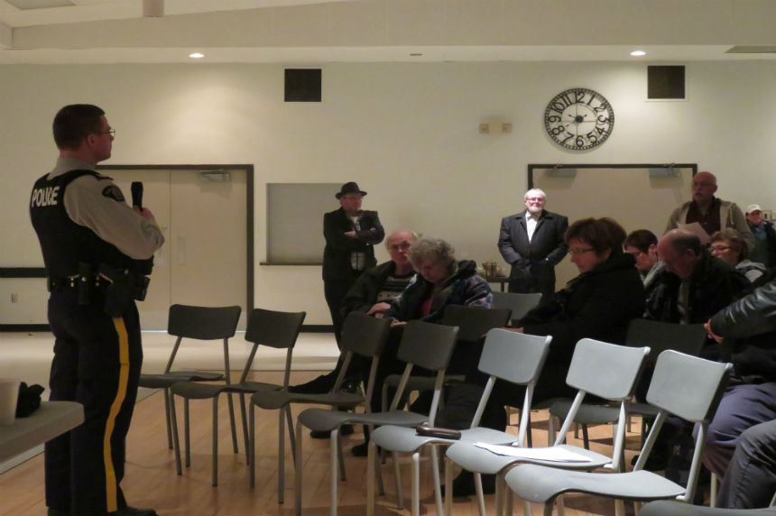 Residents question property rights at Biggar RCMP town hall