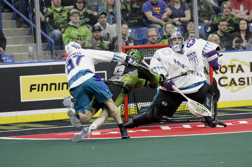 Knighthawks survive late comeback, sink Rush