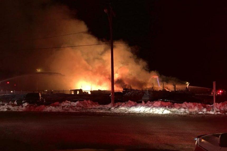 Fire destroys Transwest Air hangar in Prince Albert