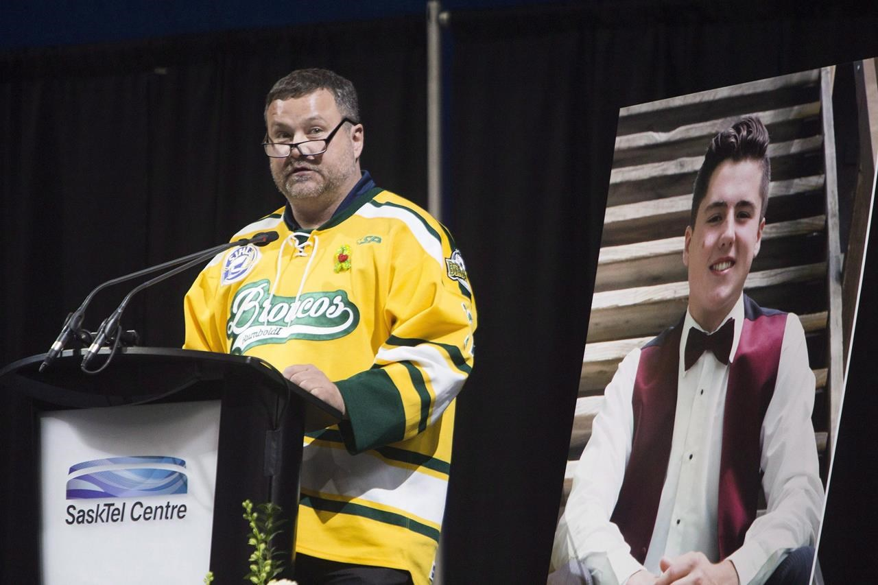 Humboldt Broncos hockey player Evan Thomas remembered in Saskatoon
