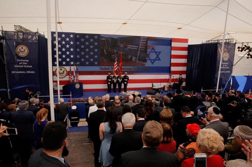 Dozens killed in Gaza as US Embassy opens in Jerusalem