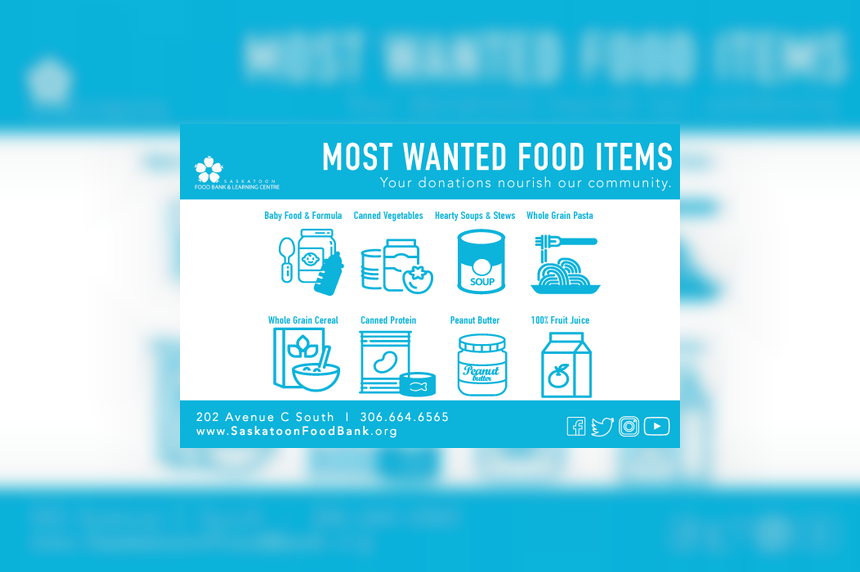 Saskatoon food drive aims to collect 100,000 pounds of food