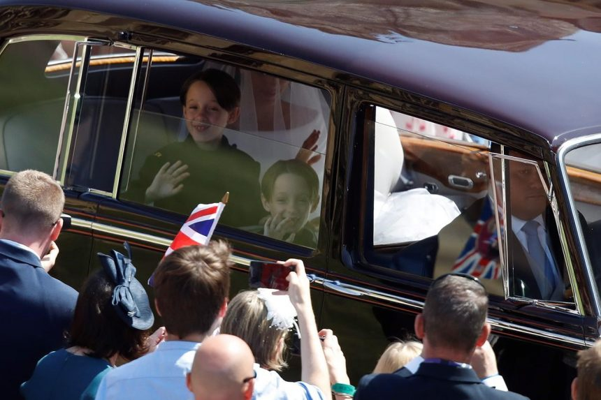 Mulroney twins capture hearts during page boys duties at royal wedding
