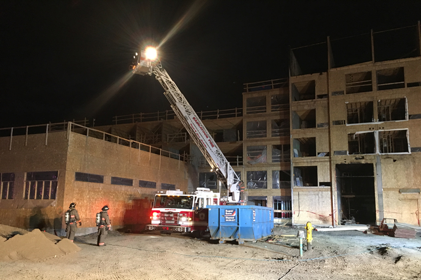 Second blaze in a month reported at site of future hotel