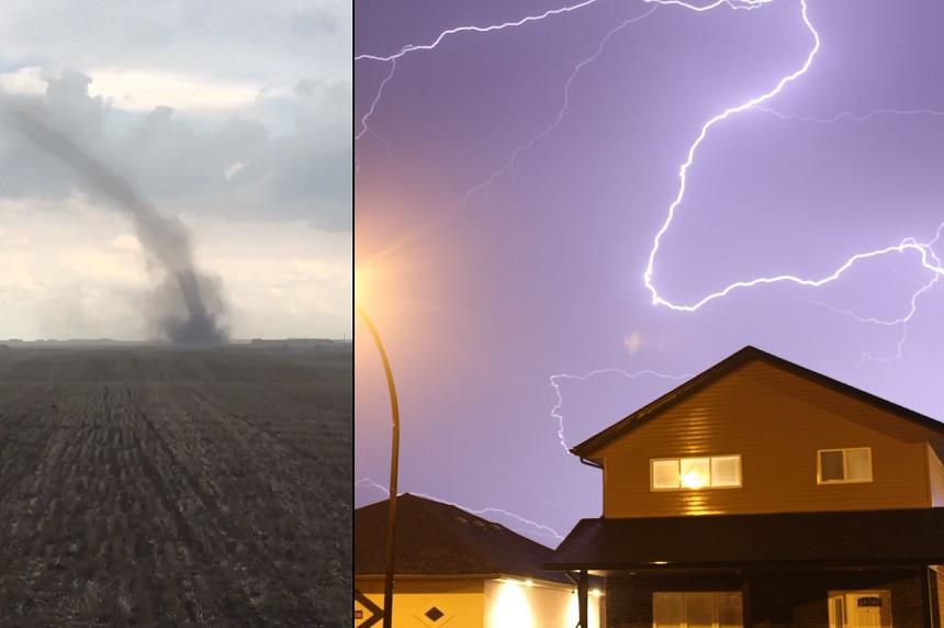 Sask. thunderstorms bring tornadoes, lightning