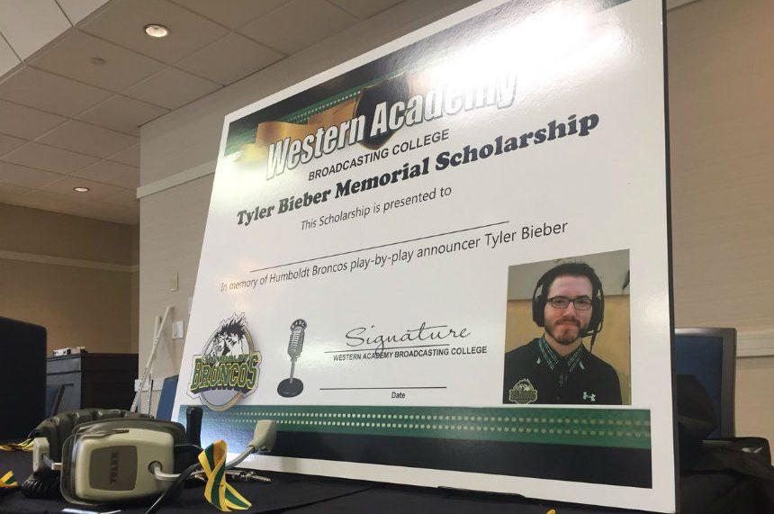 Scholarship honours Broncos' broadcaster Tyler Bieber