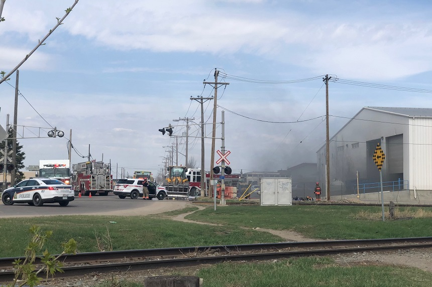 Firefighters douse blaze at Loraas Recycle