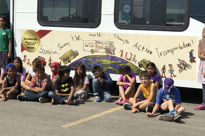 Saskatoon Transit taps student artwork for city bus