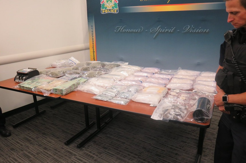 Drugs, money from latest bust shown off by Saskatoon police