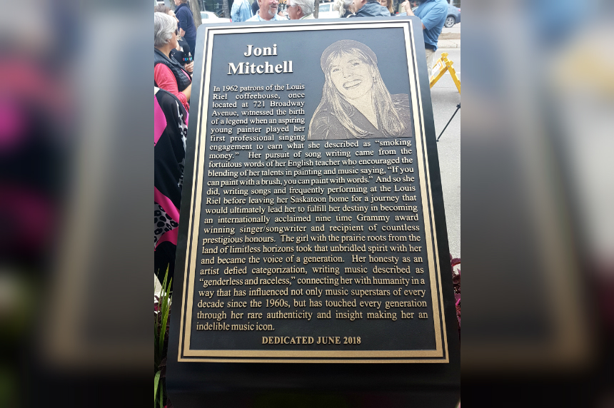 Joni Mitchell honoured by city she grew up in