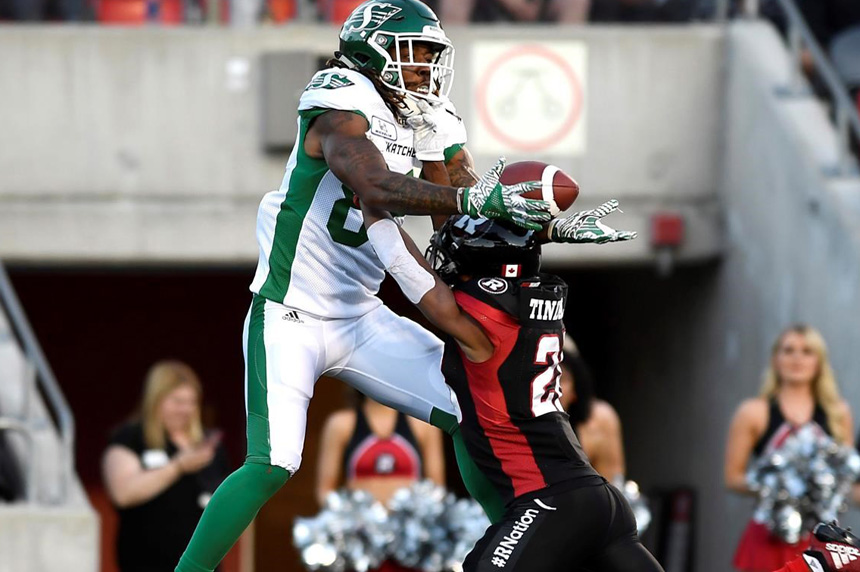 Harris leads Redblacks past Roughriders 40-17; Collaros leaves game early