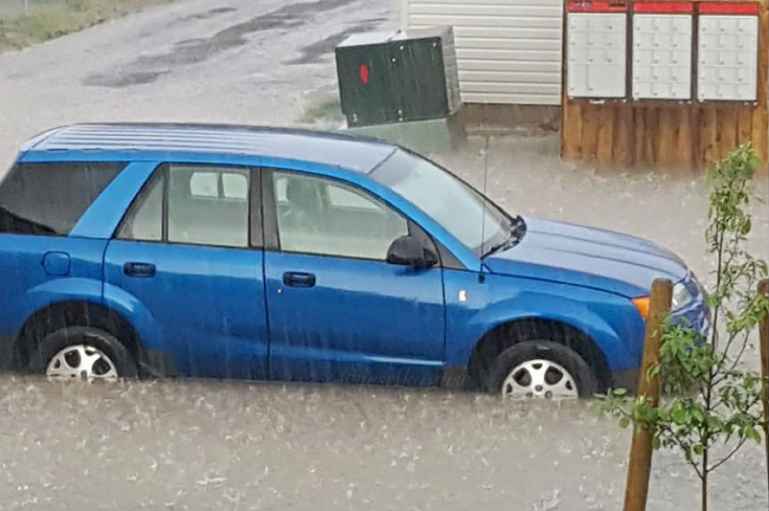 'Turned a tap on:' Storm causes flash flooding in Warman
