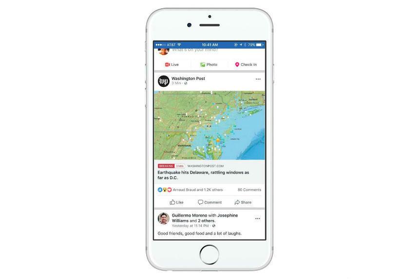 Facebook kills 'trending' topics, tests breaking news label