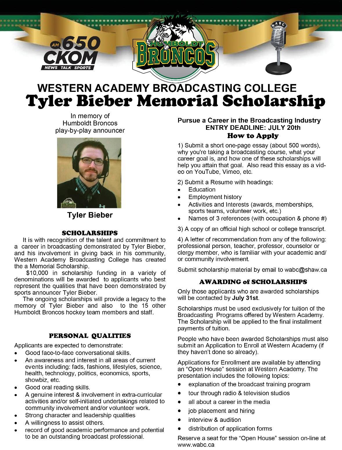WABC Tyler Bieber Scholarship