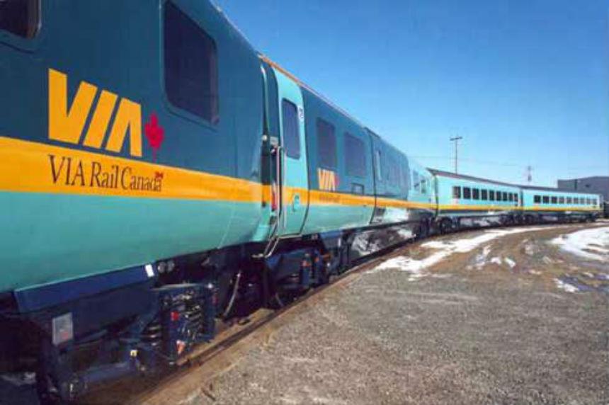 Crew members hurt when Via Rail train derails in Sask.