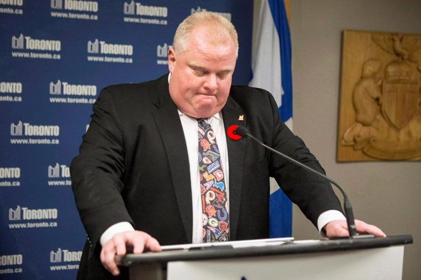 Purported Rob Ford 'crack confession tie' up for auction on eBay, asking $10K