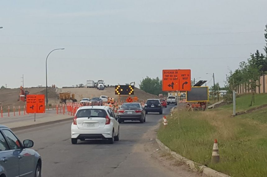 Ramp opens for new interchange at Boychuk and Highway 16