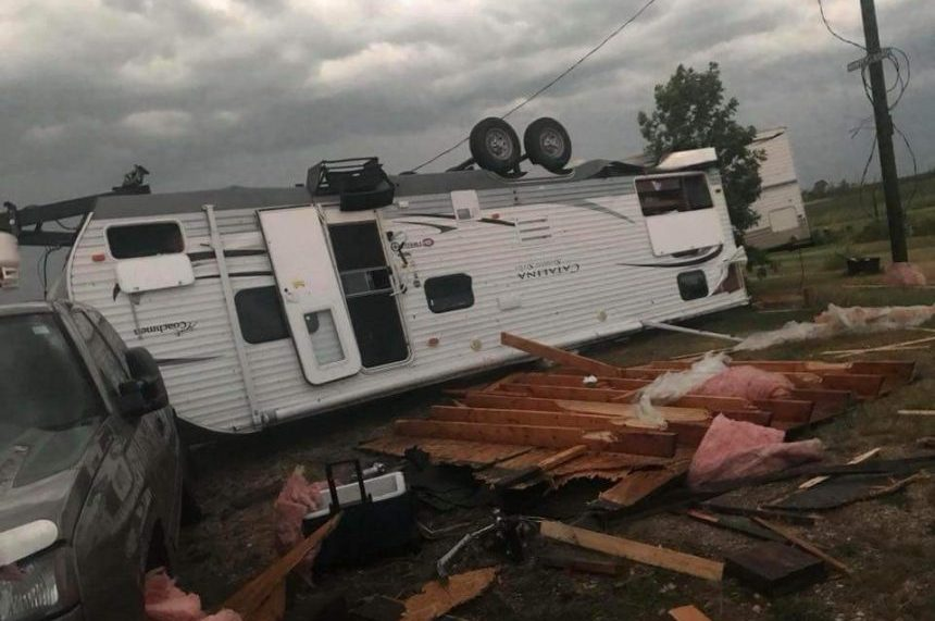 Man dead following tornado that ripped through Manitoba community Friday