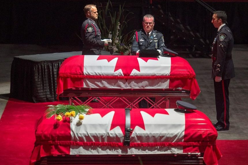 'We will not forget:' Thousands attend funeral fallen Fredericton officers