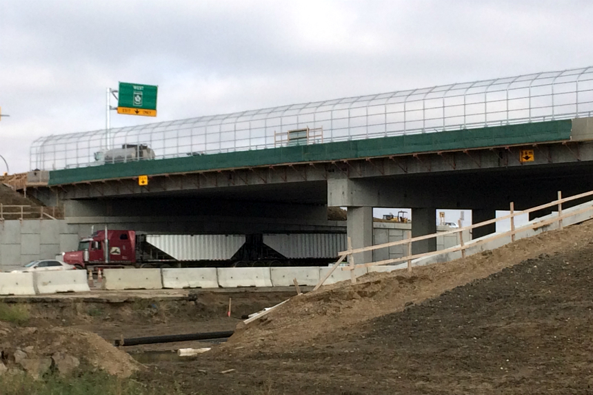 Part of new Boychuck and HWY 16 overpass opens to traffic
