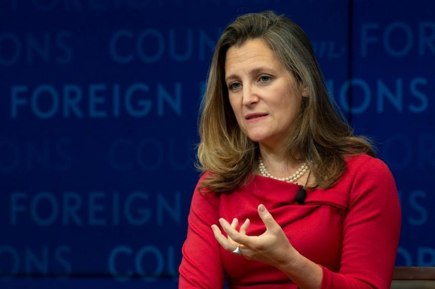 With looming NAFTA deadline and intensive talks, Freeland postpones UN speech