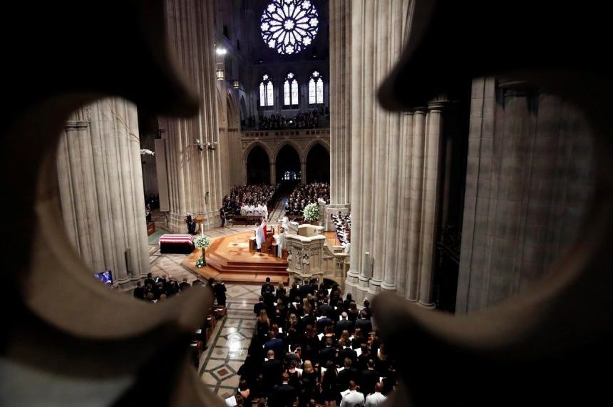 Canadian officials attend John McCain's funeral in Washington on Saturday