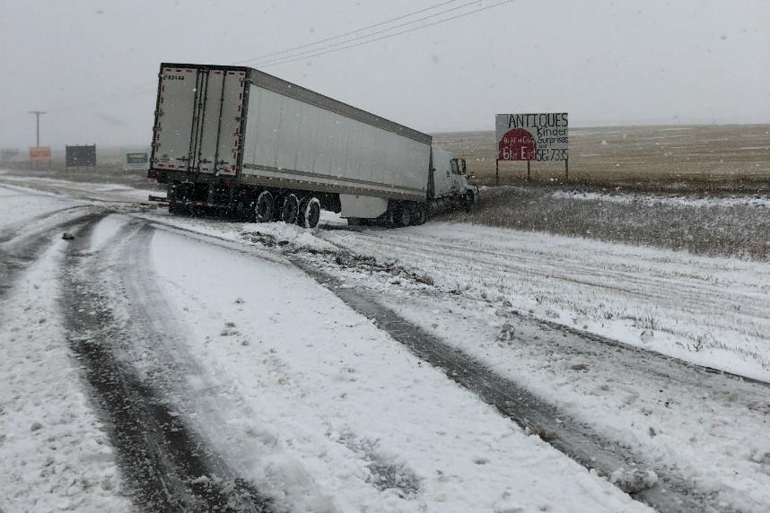 Early snowfall wreaks havoc on central Sask. highways