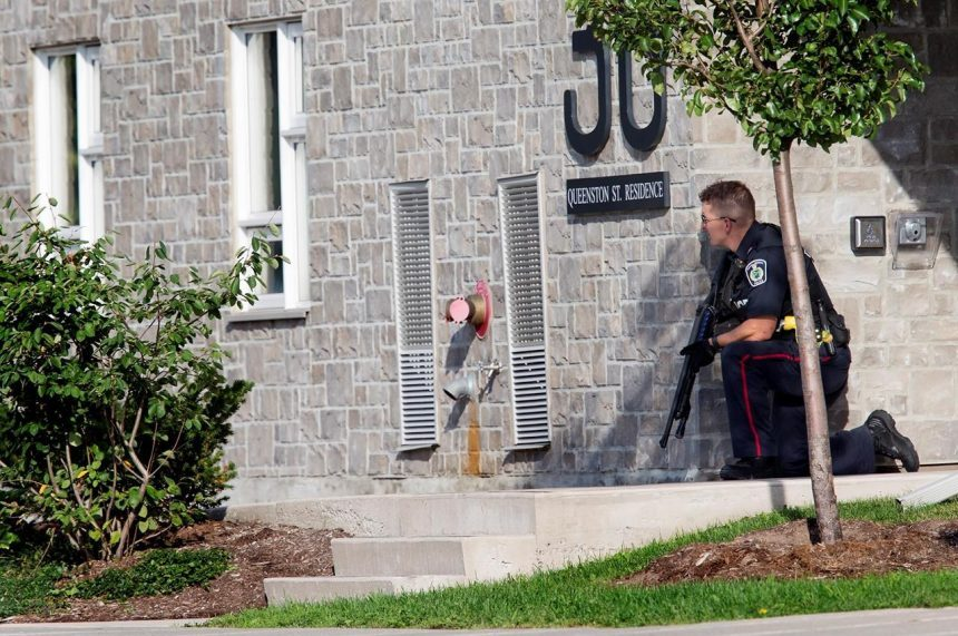 Police search for two armed suspects in St. Catharines, Ont., three hospitalized