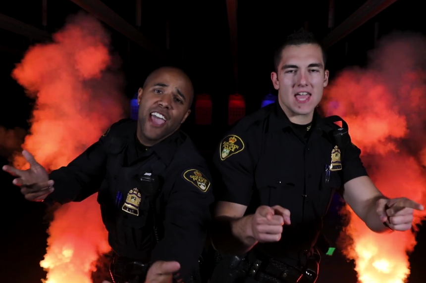Saskatoon police take on viral lip-sync challenge