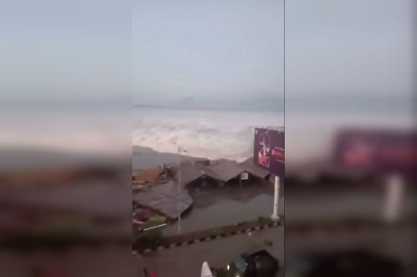 Tsunami sweeps away homes on Indonesian island of Sulawesi