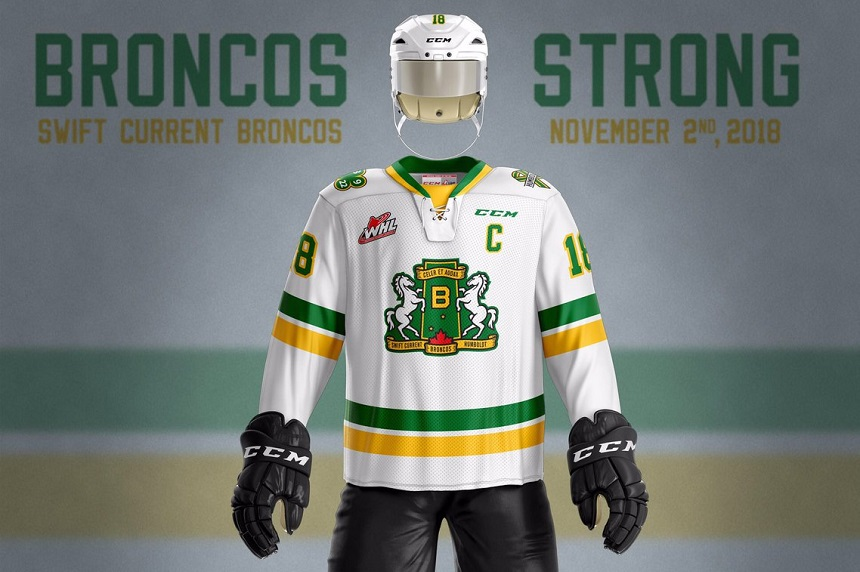 Humboldt, Swift Current unveil 'Broncos Strong' jerseys