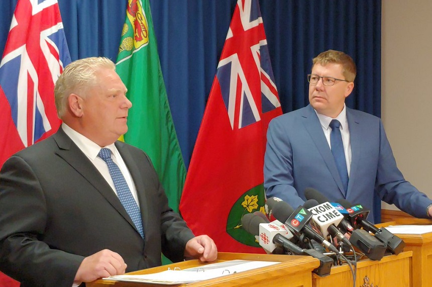 Moe, Ford pledge allegiance in carbon tax battle