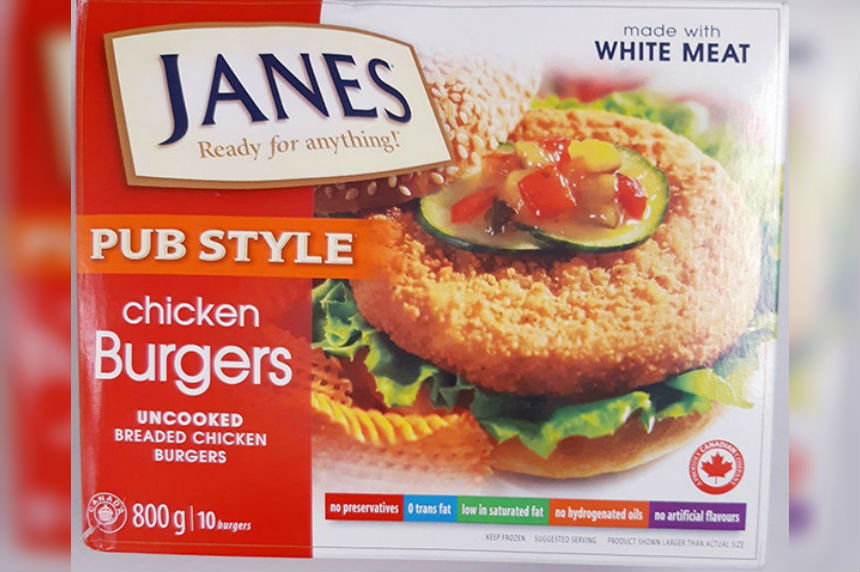 Janes chicken burgers recalled due to possible Salmonella contamination