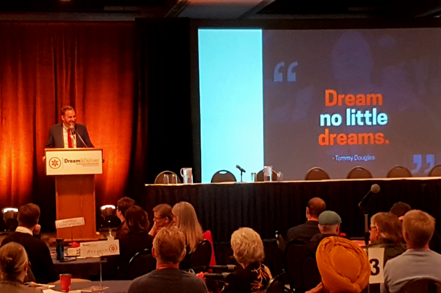 Dream and deliver: NDP's Meili unveils new energy program