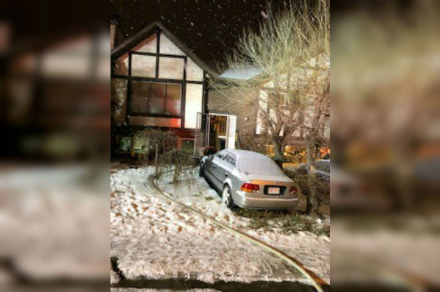 Fire place damper causes house fire in Saskatoon