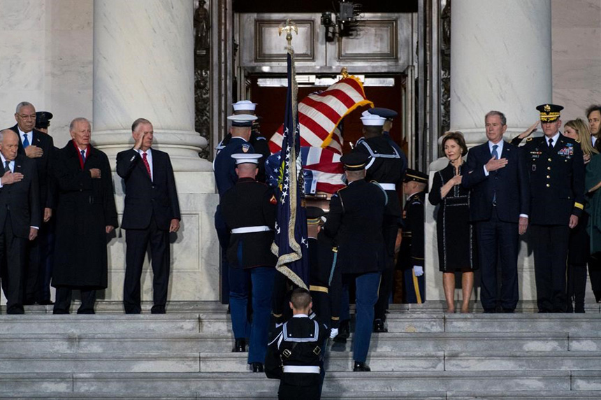 How AP photographed George HW Bush lying in state