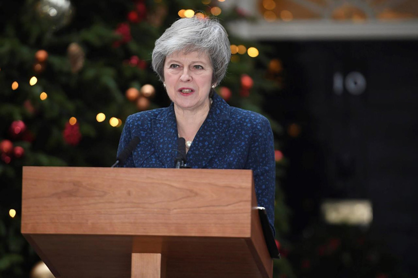 UK disarray: May to face no-confidence vote from her party