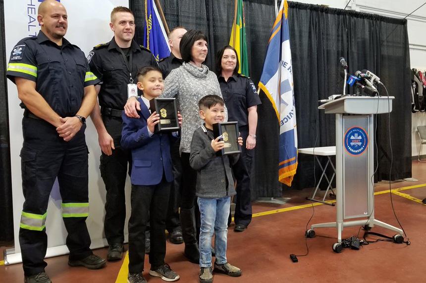 Saskatoon boys honoured for saving grandmother