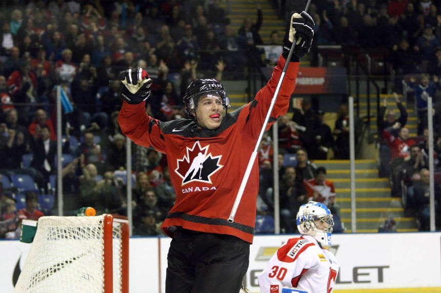3f10947ada5 Comtois scores four as Canada routs Denmark 14-0 in world juniors opener