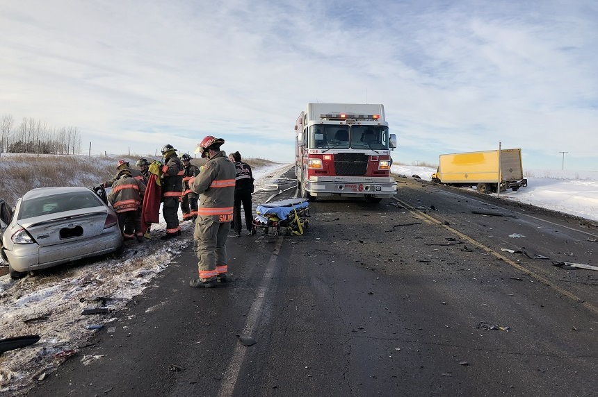 Hwy 5 closed after fatal crash between transport truck, car