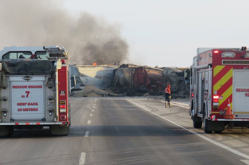 Train derails north of Saskatoon
