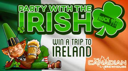 Rock 102's Party with the Irish at Canadian Brewhouse