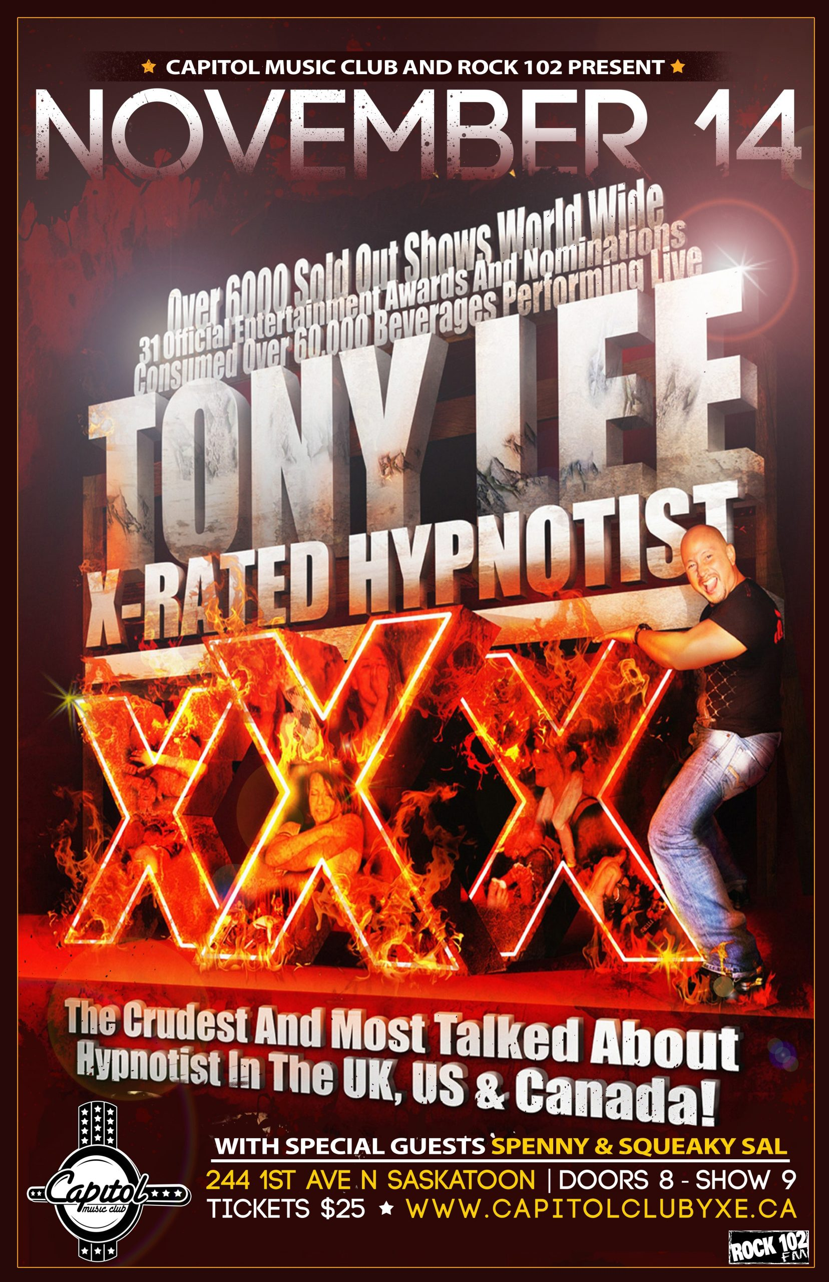 Tony Lee X-Rated Hypnotist