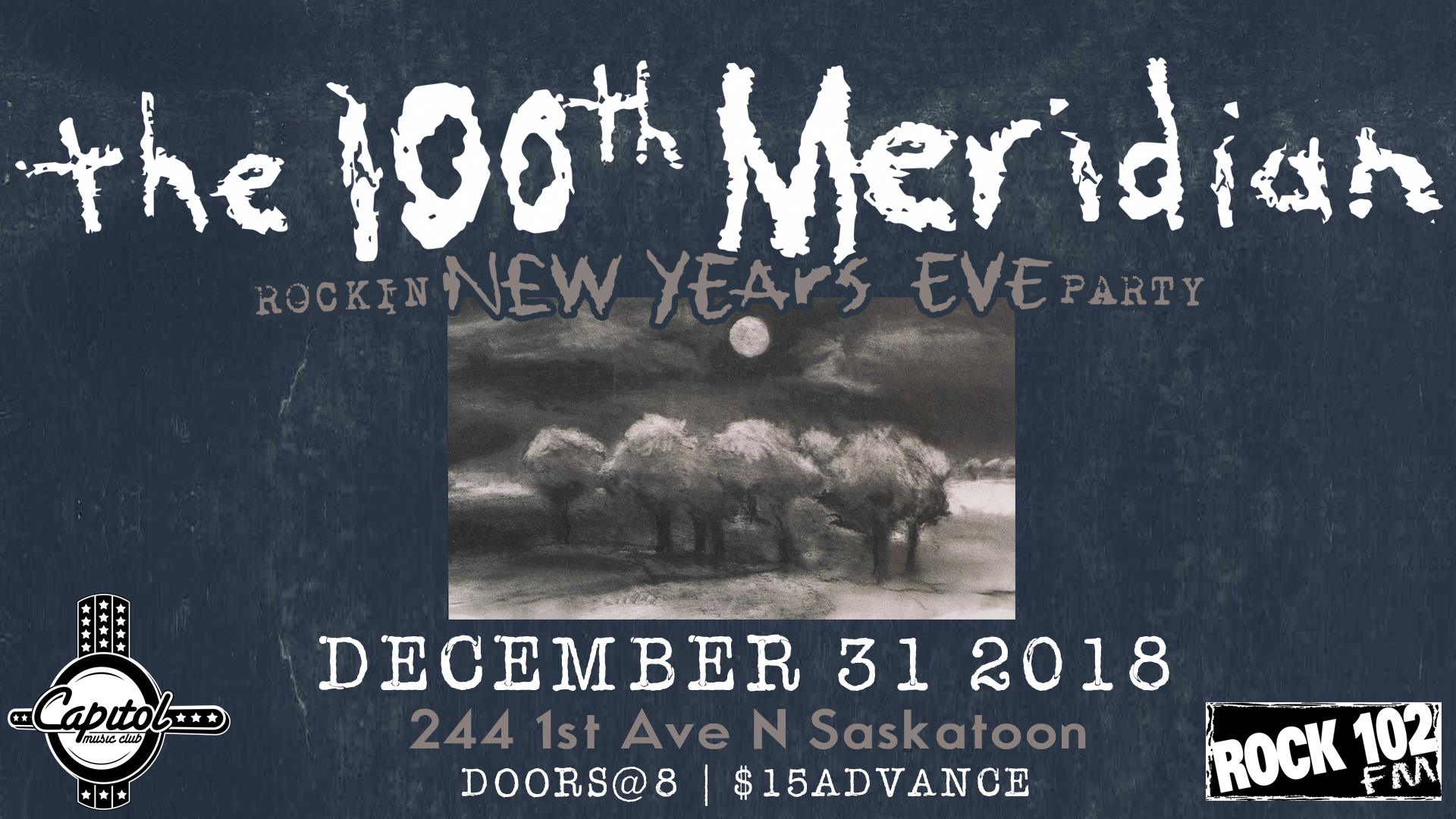 The 100th Meridian Rockin New Years Eve Party