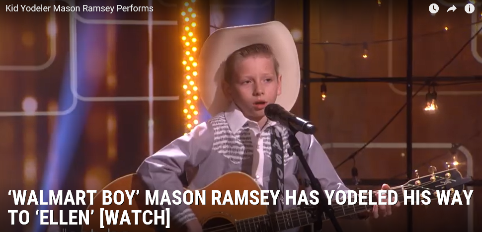 [WATCH] Yodel Boy Makes It On Ellen